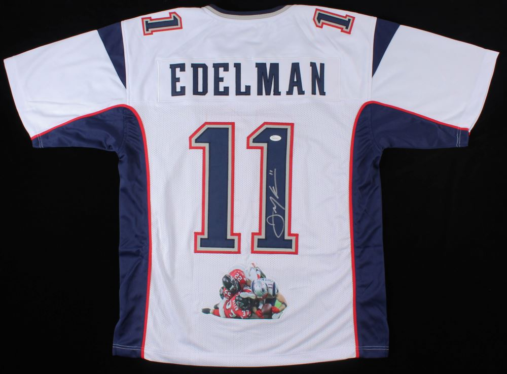 Julian Edelman Signed New England Patriots Jersey with Custom ...