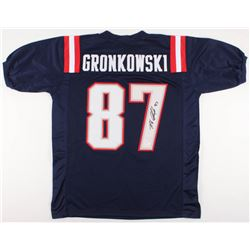 Rob Gronkowski Signed New England Patriots Color Rush Jersey (JSA COA)