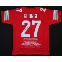 Eddie George Signed Ohio State Buckeyes Career Highlight Stat Jersey (JSA COA)