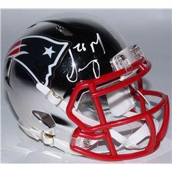 Sony Michel Signed New England Patriots Chrome Speed Mini Helmet (Beckett COA)