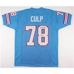 "Curley Culp Signed Houston Oilers Jersey Inscribed ""HOF 13"" (JSA COA)"