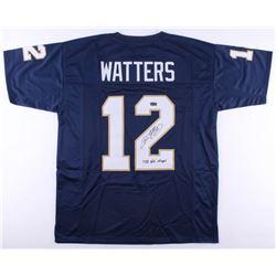 "Ricky Watters Signed Notre Dame Fighting Irish Jersey Inscribed ""1988 Nat. Champs""  (Radtke COA)"