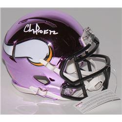 "Chris Doleman Signed Minnesota Vikings Chrome Speed Mini-Helmet Inscribed ""HOF 12"" (Radtke Hologram)"