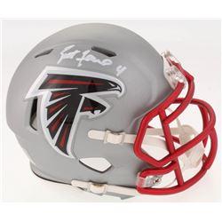 Brett Favre Signed Atlanta Falcons Blaze Speed Mini Helmet (Radtke COA)