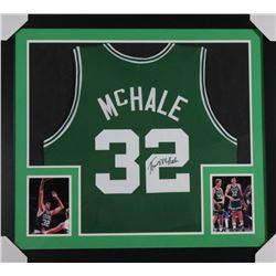 Kevin McHale Signed Boston Celtics 31x35 Custom Framed Jersey (JSA COA)