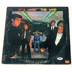 "Pete Townshend Signed ""It's Hard"" Vinyl Album Cover (PSA COA)"