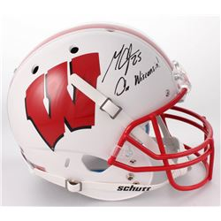 "Melvin Gordon Signed Wisconsin Badgers Full-Size Helmet Inscribed ""On Wisconsin!"" (Radtke COA  Gordo"