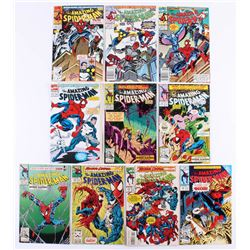 """Lot of (10) 1991-1993 """"The Amazing Spider-Man"""" Marvel Comic Books"""