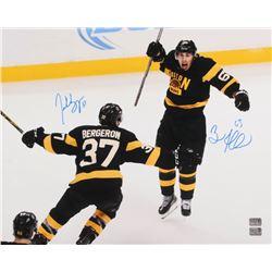 Patrice Bergeron  Brad Marchand Signed Boston Bruins 16x20 Photo (Bergeron  Marchand Hologram)