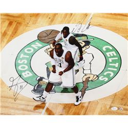 "Glen ""Big Daddy"" Davis  Nate Robinson Signed Boston Celtics 16x20 Photo (JSA COA)"