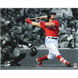 Andrew Benintendi Signed Boston Red Sox 16x20 Photo (Sure Shot Promotions Hologram)
