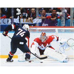 T.J. Oshie Signed Team USA 16x20 Photo (JSA COA)