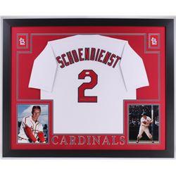 Red Schoendienst Signed Cardinals 35x43 Custom Framed Jersey (JSA COA)