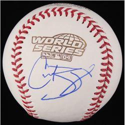 Curt Schilling Signed 2004 World Series Baseball (JSA COA)