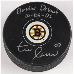 """Zdeno Chara Signed Boston Bruins Signed Logo Hockey Puck Inscribed """"Bruins Debut 10-06-06"""" (Chara Ho"""