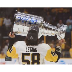 Kris Letang Signed Boston Bruins 8x10 Photo (Letang Hologram)