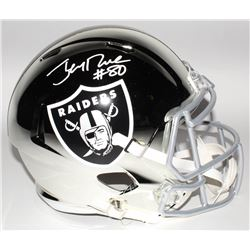 Jerry Rice Signed Oakland Raiders Full-Size Chrome Speed Helmet (Beckett COA)