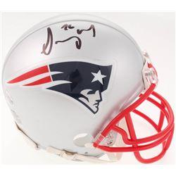 Sony Michel Signed New England Patriots Mini-Helmet (Beckett COA)