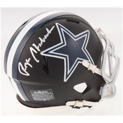 Roger Staubach Signed Dallas Cowboys Matte Black Speed Mini Helmet (JSA COA)