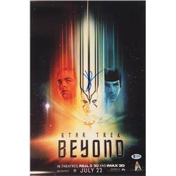 J.J. Abrams Signed Star Trek Beyond 12x18 Movie Poster Photo (Beckett COA)