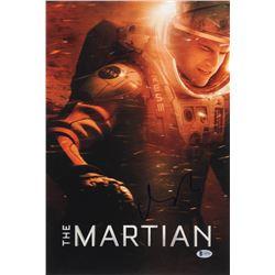 Matt Damon Signed The Martian 12x18 Movie Poster Photo (Beckett COA)