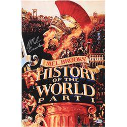 Mel Brooks Signed History of the World, Part I 12x18 Movie Poster Photo (Beckett COA)