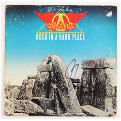 "Steven Tyler Signed ""Rock in a Hard Place"" Vinyl Record Album (Beckett COA)"