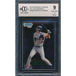 2010 Bowman Chrome 18U USA Baseball #18BC8 Bryce Harper (BCCG 9)