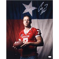 Case Keenum Signed Houston Cougars 16x20 Photo (JSA COA)