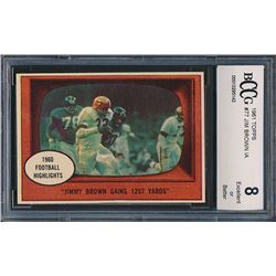 1961 Topps #77 Jim Brown In Action (BCCG 8)