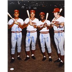 "1970's Cincinnati Reds ""Big Red Machine"" 16x20 Photo Team-Signed by (4) with Tony Perez, Johnny Benc"