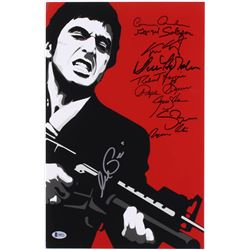 """Scarface"" 11x17 Photo Signed by (10) with Al Pacino, Robert Loggia, Steven Bauer, Miriam Colon (Bec"