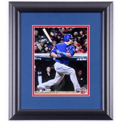Kyle Schwarber Signed Chicago Cubs 2016 World Series 14.5x17 Custom Framed Photo Display (Schwartz C