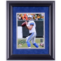 Matthew Stafford Signed Detroit Lions 14x17 Custom Framed Photo Display (Beckett COA)