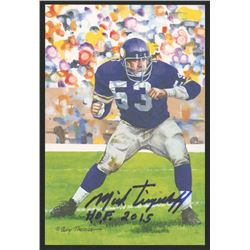 Mick Tingelhoff Signed 2015 LE Minnesota Vikings 4x6 Pro Football Hall of Fame Art Collection Card I