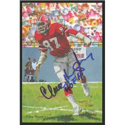 Claude Humphrey Signed 2014 LE Atlanta Falcons 4x6 Pro Football Hall of Fame Art Collection Card Ins