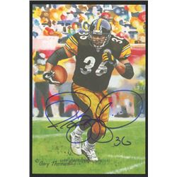 Jerome Bettis Signed 2015 LE Pittsburgh Steelers 4x6 Pro Football Hall of Fame Art Collection Card (