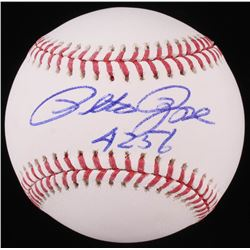"Pete Rose Signed OML Baseball Inscribed ""4256"" (JSA COA)"
