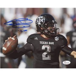 "Johnny Manziel Signed Texas AM Aggies 8x10 Photo Inscribed ""'12 HT"" (JSA Hologram)"