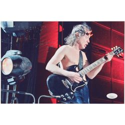 """Angus Young Signed """"AC/DC"""" 8x11.5 Photo Inscribed """"HIGHWAY TO HELL!""""  """"AC/DC"""" (JSA COA)"""
