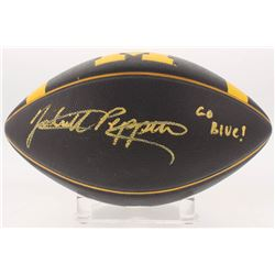 "Jabrill Peppers Signed Michigan Wolverines Logo Football Inscribed ""Go Blue!"" (JSA COA)"