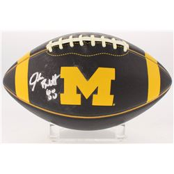 Jake Butt Signed Michigan Wolverines Logo Football (JSA COA)