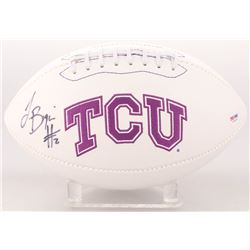 Trevone Boykin Signed TCU Horned Frogs Logo Football (PSA COA)