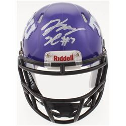 Kenny Hill Signed TCU Horned Frogs Speed Mini Helmet (JSA COA)