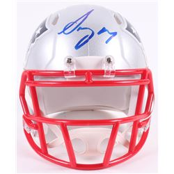 Sony Michel Signed New England Patriots Speed Mini Helmet (Radtke COA)