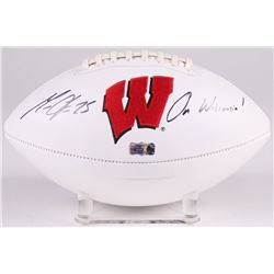 "Melvin Gordon Signed Wisconsin Badgers Logo Football Inscribed ""On Wisconsin!"" (Radtke COA)"