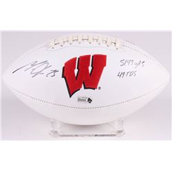 "Melvin Gordon Signed Wisconsin Badgers Logo Football Inscribed ""5143 yds 49 TDS"" (Radtke COA)"