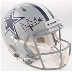 Dak Prescott  Ezekiel Elliott Signed Cowboys Full-Size Authentic On-Field Speed Helmet (Beckett COA)