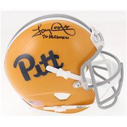 "Tony Dorsett Signed Pittsburgh Panthers Mini Helmet Inscribed ""76 Heisman"" (Beckett COA)"