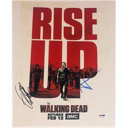 "Andrew Lincoln  Jeffrey Dean Morgan Signed ""The Walking Dead"" 11x14 Photo (PSA COA)"
